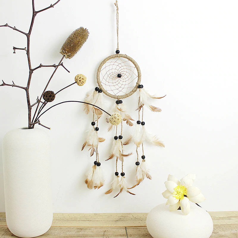 yellow dream catcher